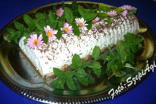 Sütés nélküli túró-rudi torta