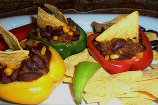 Chili con carne tortilla chipszel