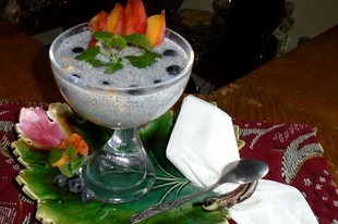 Gyümölcsös chia puding