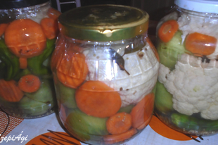 Vegyes zöldségek eltevése télire tartósító nélkül