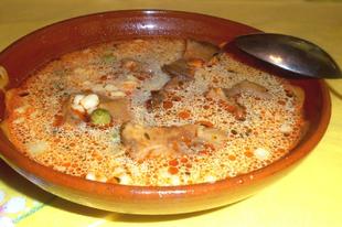 Sárga rókagomba leves