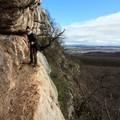 Gyilokjáró a Pes-kő falában: nem olyan vészes, amilyennek látszik