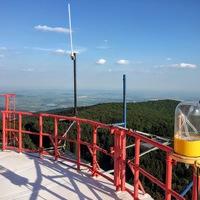 Száz méterrel Magyarország teteje fölött
