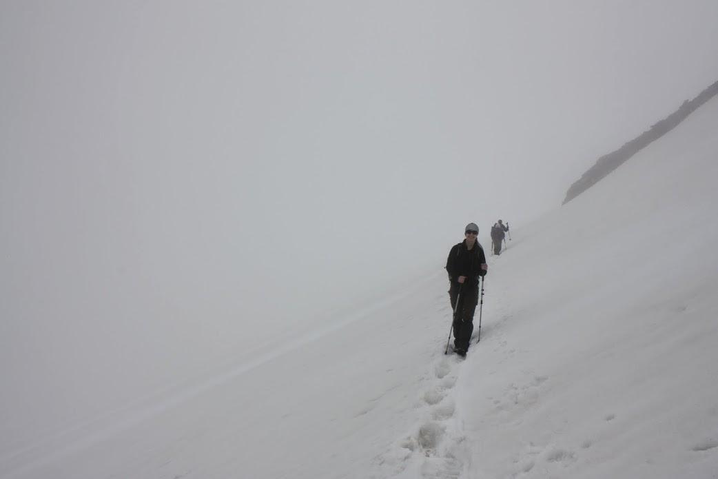 Grossvenediger csúcstámadás ködben, 2016