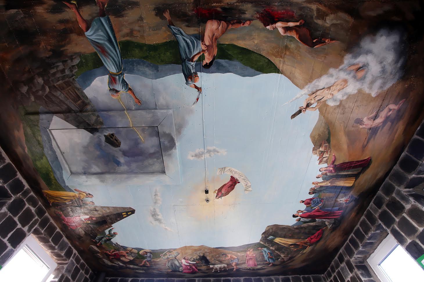A nevezetes freskó, teljes terjedelmében