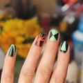 neon & fekete / nyári mani