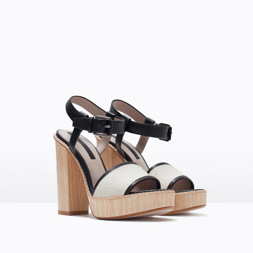 High heel platform sandal - Zara | 17 995.-
