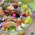Sült húsos mindentbele salátával