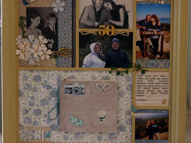 50. házassági évfordulóra készült
