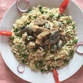 Tofu Sztroganoff-módra rizibizivel