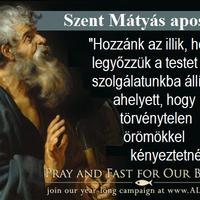 24. IMÁDKOZZUNK ÉS BÖJTÖLJÜNK FŐPAPJAINKÉRT!