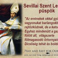 8. IMÁDKOZZUNK ÉS BÖJTÖLJÜNK FŐPAPJAINKÉRT!