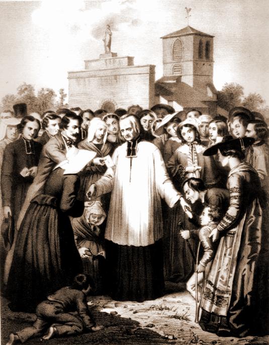 pilgrims-cluster-around-the-cure-dars_b535.jpg