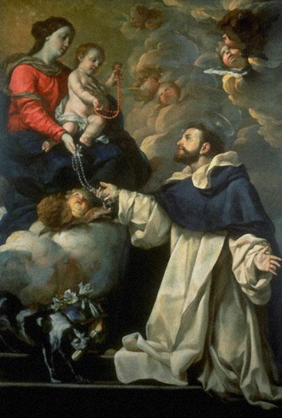 Szent Domonkos átveszi a rozsafüzert(Antonio Asisclo Palomino de Castro y Velasco_Seattle Art Museum).jpg