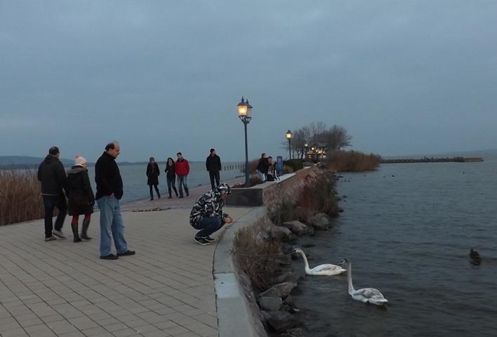 a kikötőben rajtunk kívül nem sokan sétáltak, viszont kihasználva a csendet és nyugalmat kint volt néhány horgász...