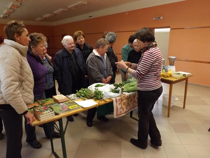 Judit sorra bemutatta a növényeket, ismertette jó tulajdonságaikat, esetleges gyógyhatásukat...