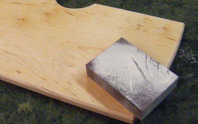 Olajozott, csiszolt fafelület