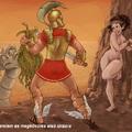 Sziklához kötözve, pucéron - Androméda és Perszeusz