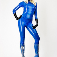 Susan Wayland - Blue Transparent Catsuit