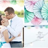 Esküvő fagyi színekben