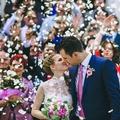 Chevron esküvő