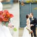 Esküvő kékben és narancsban