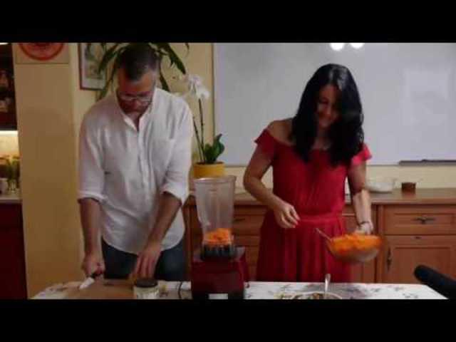 Nyers vegán répa krém a tortára