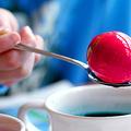Húsvéti hímes tojások - természetes festőlevek