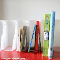Újrahasznosítás: irat- és könyvrendszerező műanyag flakonokból