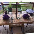 Kerti ücsörgők és asztalkák raklapból
