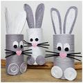 Készítsünk húsvéti nyuszit WC-papír gurigából!