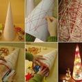 Csináld magad: világító karácsonyfa fonalból