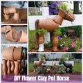 Így készíts lovat virágcserépből!