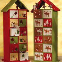 Adventi naptár - fiókos házikó tele ajándékkal