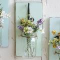 Fali dekoráció befőttes üvegekből a vintage kedvelőinek