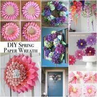 Tavaszi ajtó- és ablakdíszek papírból