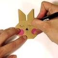 Tízperces trükkök - Origami nyuszik a húsvéti dekorációhoz