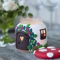 Gombaházikó, ablakában pislákoló gyertyafénnyel - szuper ajándékötlet