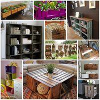 Bútorok zöldségesládákból