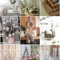 Barkaágas díszek tavaszra, húsvétra