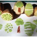 Csináld magad nyomda zöldségekből és gyümölcsökből
