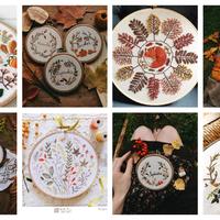 Álomszép őszi témájú hímzések