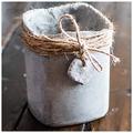 Kaspók cementből, kertbe és lakásba