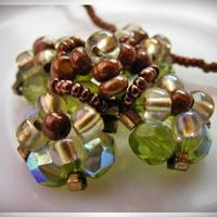 Kereszt alakú gyöngymedál