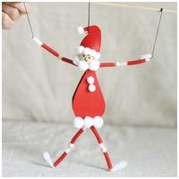 A Mikulás téli tánca - Mozgatható Télapó-figura tésztából és néhány egyszerű alapanyagból