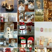 Téli dekorációk befőttesüvegből