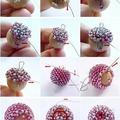 Fűzzünk gyöngyöt: fagolyó körbegyöngyözése