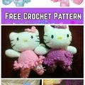 Horgolt Hello Kitty figurák