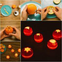 Lámpások narancshéjból