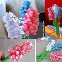 Tavaszvárás: jácint papírból